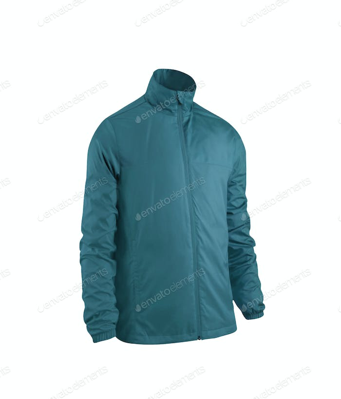blue jacket isolated on white