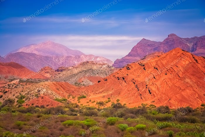 Colourful mountains of Quebrada de Humahuaca