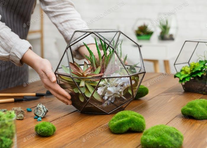 Make your home garden concept