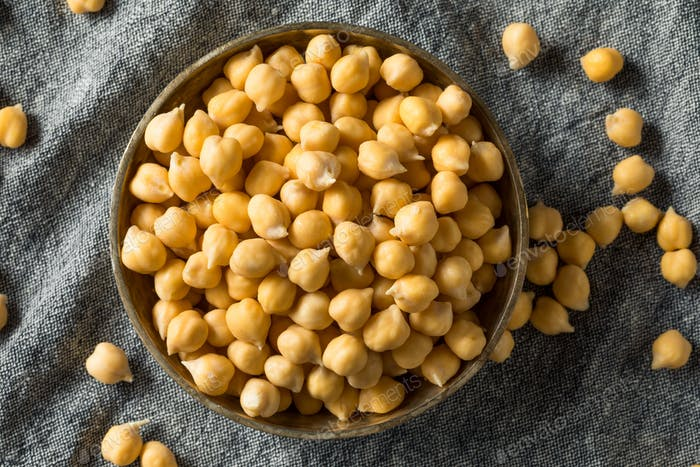 Raw Organic Garbanzo Bean Chickpeas