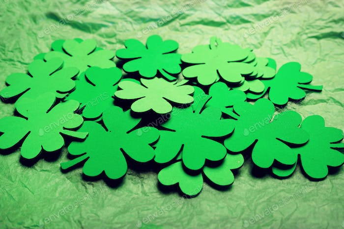 Clovers background about a saint patrick's day theme
