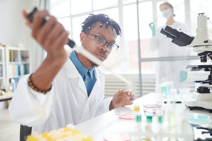 Young African-American Scientist
