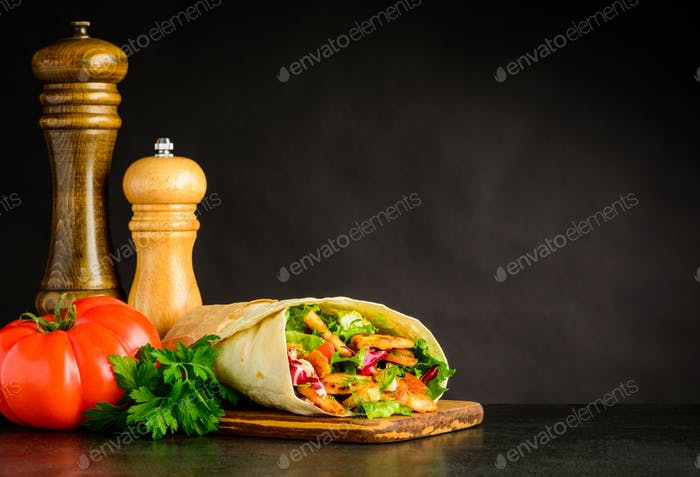 Shawarma with Tomato and Spices