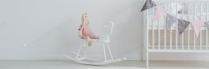 Kid's room with rocking horse