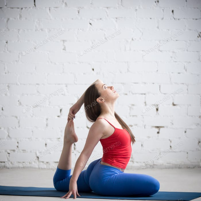Cool Yoga Girl Practicing