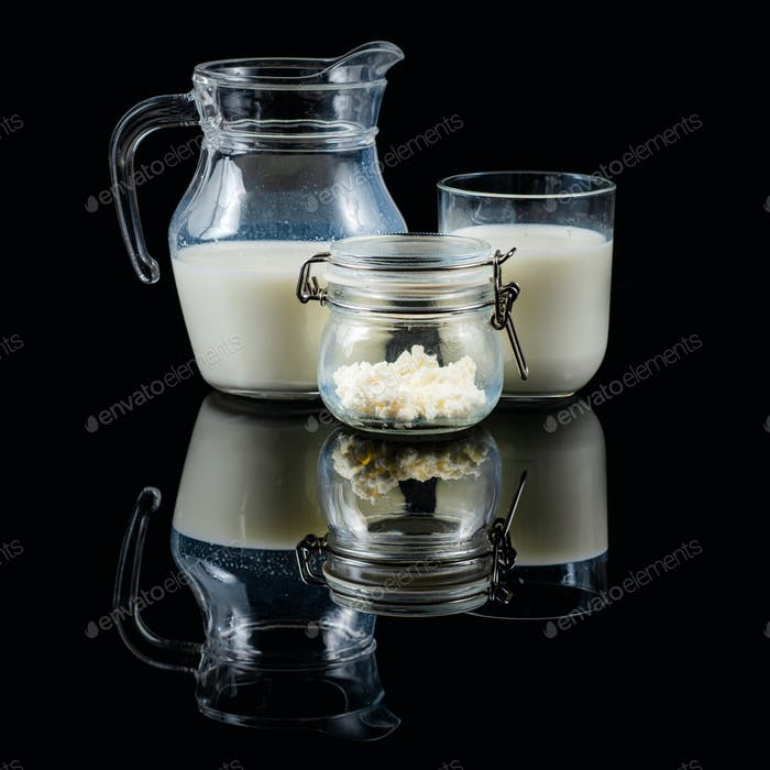 Fermented Probiotic Dairy Drink Kefir.