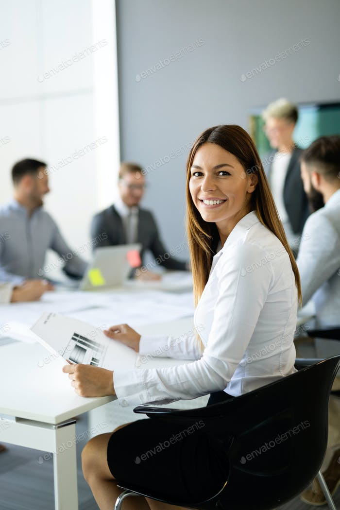 Business colleagues in conference room during meeting