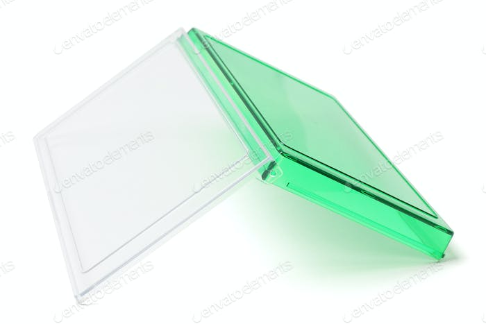 Inverted Open Green Plastic Box