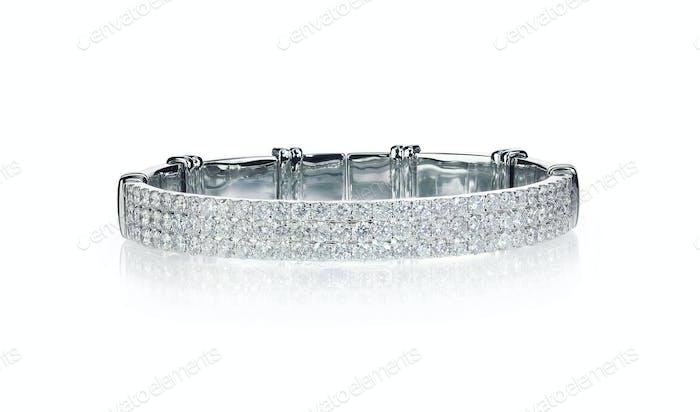 Dreireihiges Diamant-Armband