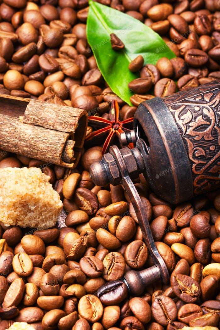 Turkish coffee roasted bean
