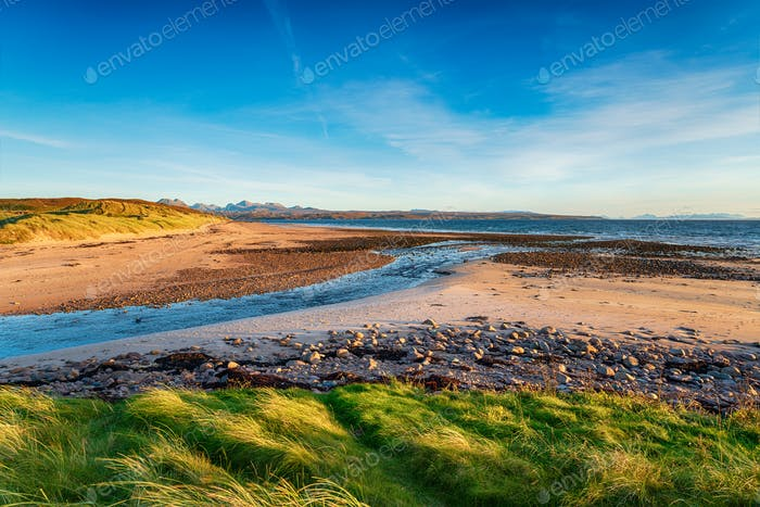 Looking out across the River Sand towards the Isle of Skye