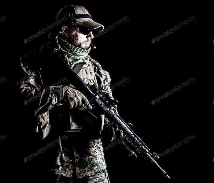 US Marine Soldier