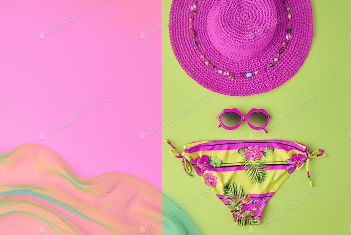 Fashion Summer clothes Bikini set. Minimal Design