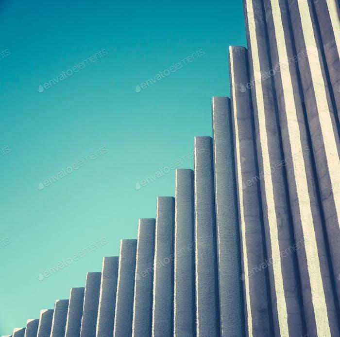 Abstract White Concrete Architecture