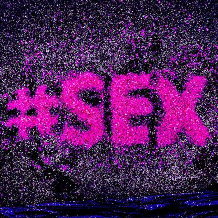 Hashtag Glitter Text Sex Minimal Design Glamour