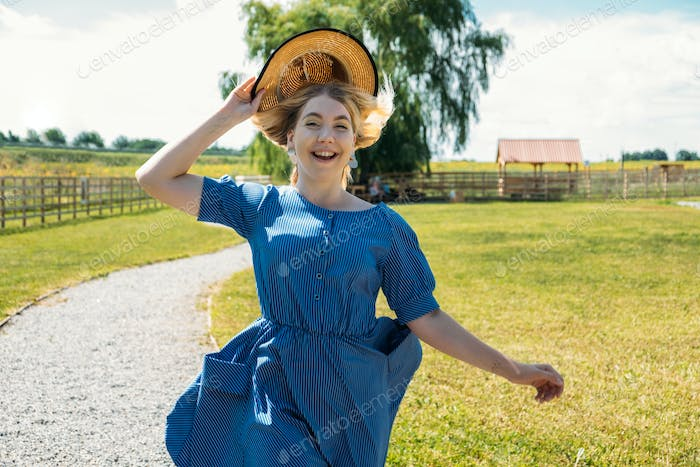 Cottagecore, Countryside aesthetics, Farming, Farmcore, Countrycore, slow life. Young girl in