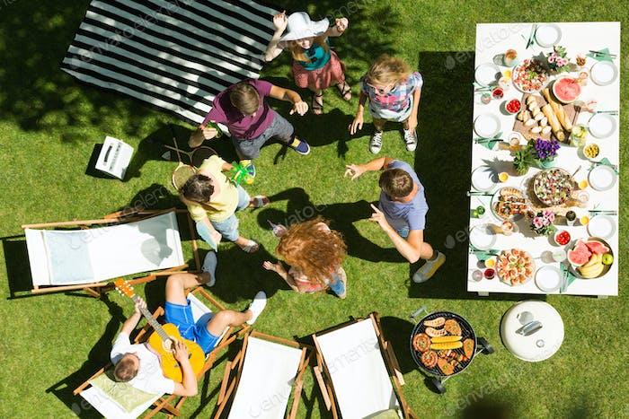 Casual garden party