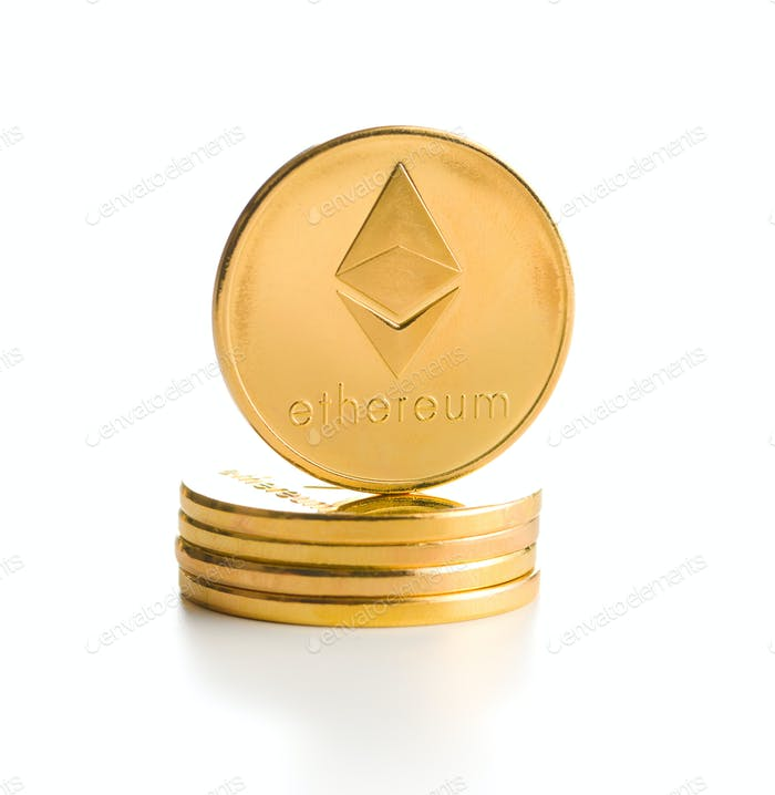 Ethereum. Digital cryptocurrency.