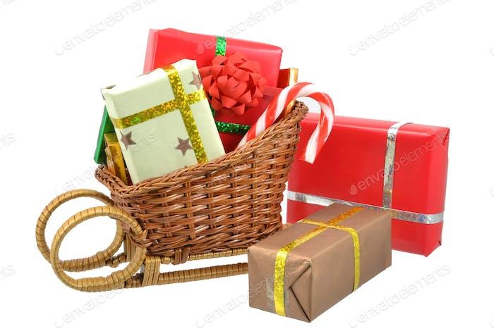 Christmas Gifts and a Sleigh