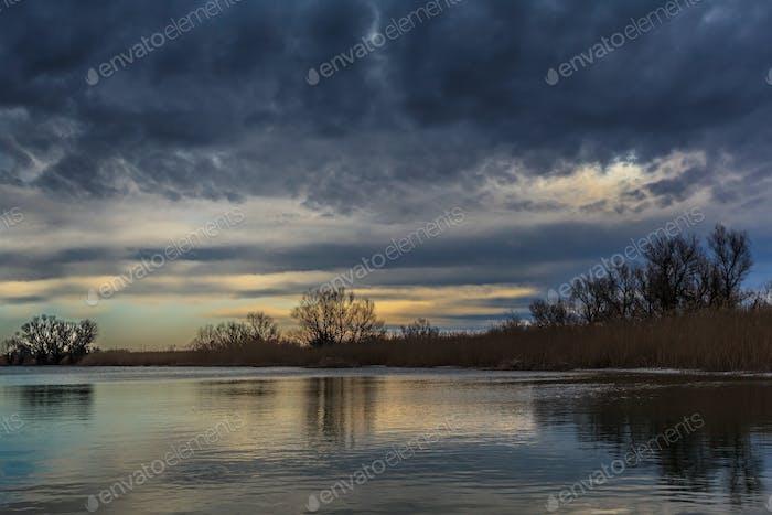 sunrise in Danube Delta, Romania
