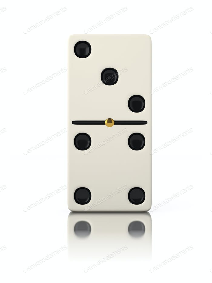 Domino game bone close up isolated