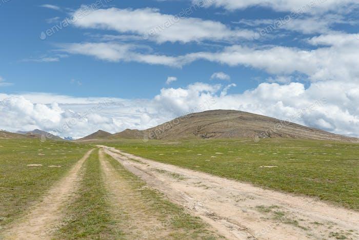 dirt road on plateau