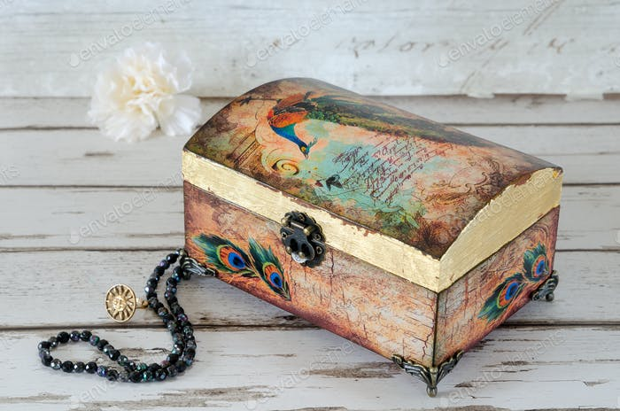 Decoupaged Jeqwellery Box