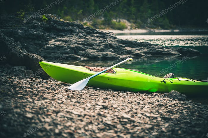 Pro Kayak on the Lake Shore