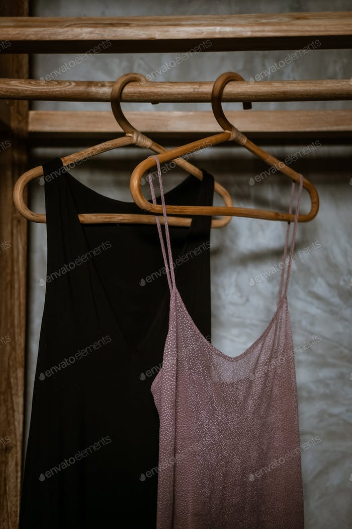 Boho chic open wooden clothing rack