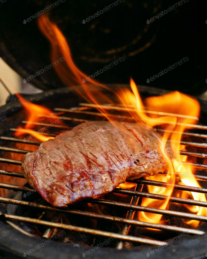 Juicy Beef on an Open Fire