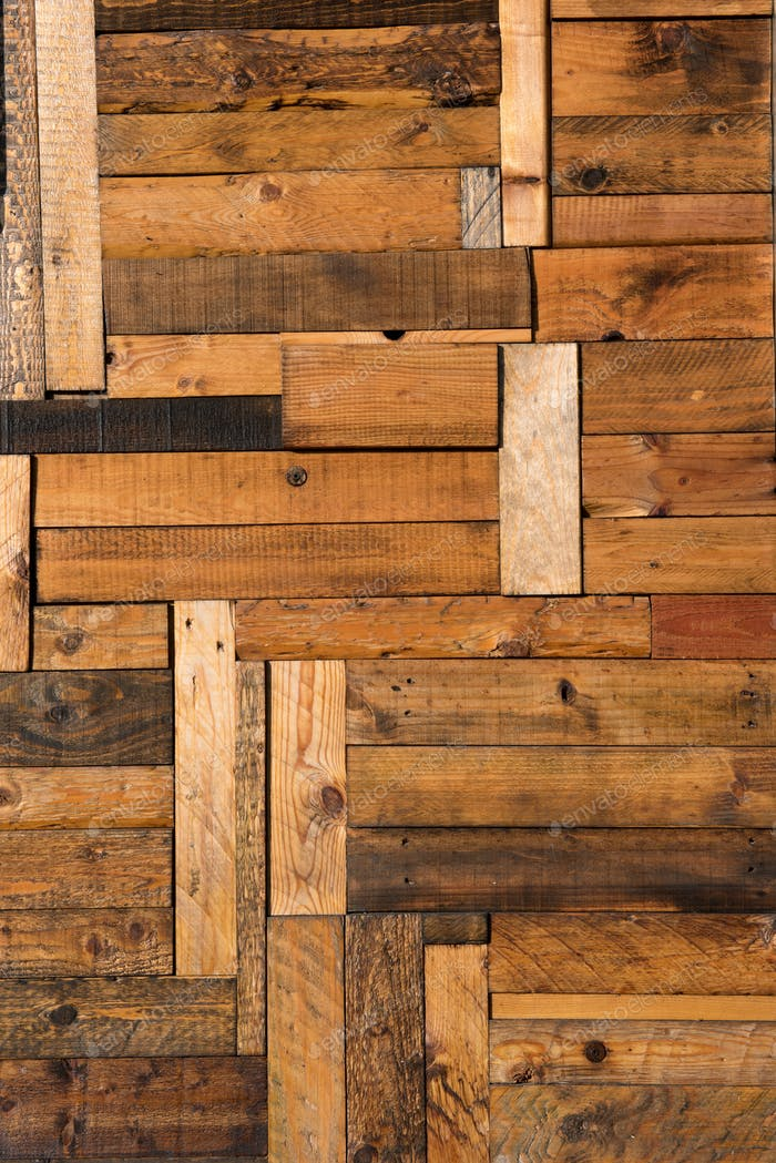 Wooden background texture with irregular planks