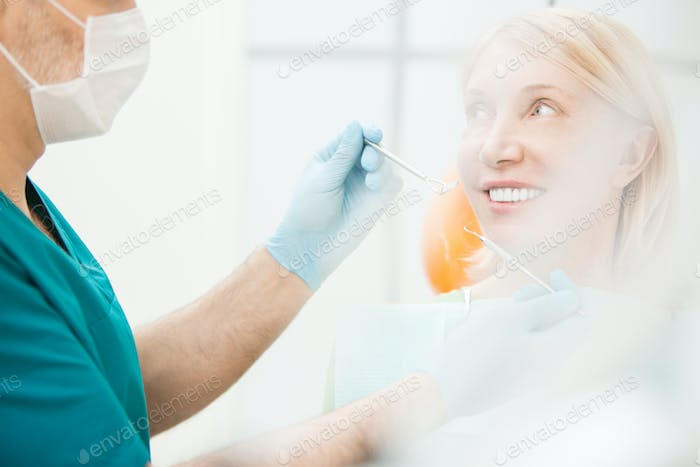 Woman in dental clinics