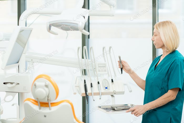 Preparing dentistry equipment