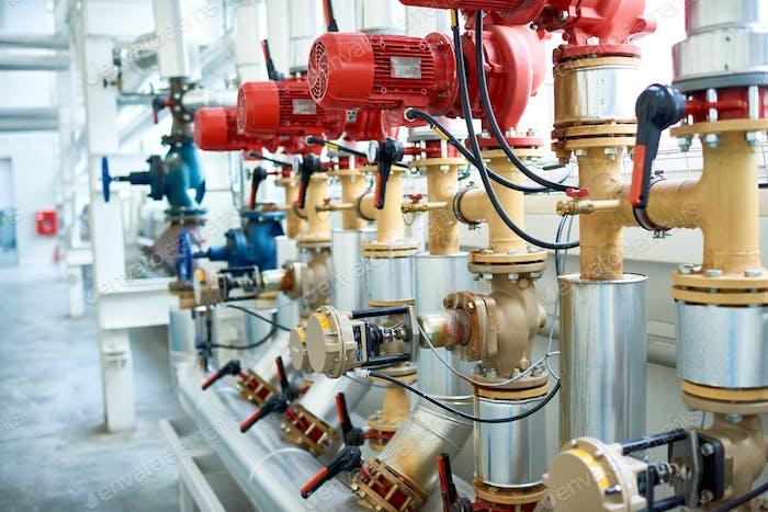 Rohrsystem in der modernen Fabrik