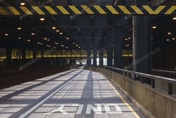 Exit Lane on an Underpass