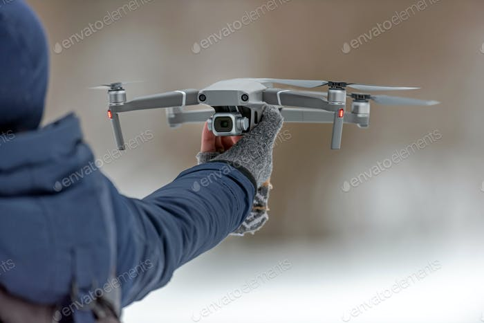 Thumbnail for Drone quadcopter with digital camera