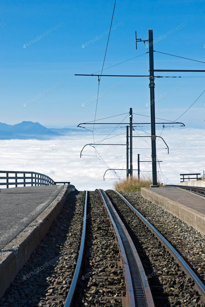 Railway over the clouds