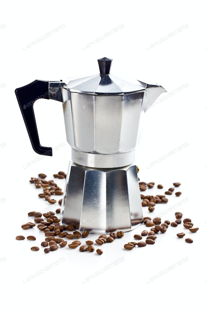 coffee maker with coffee beans