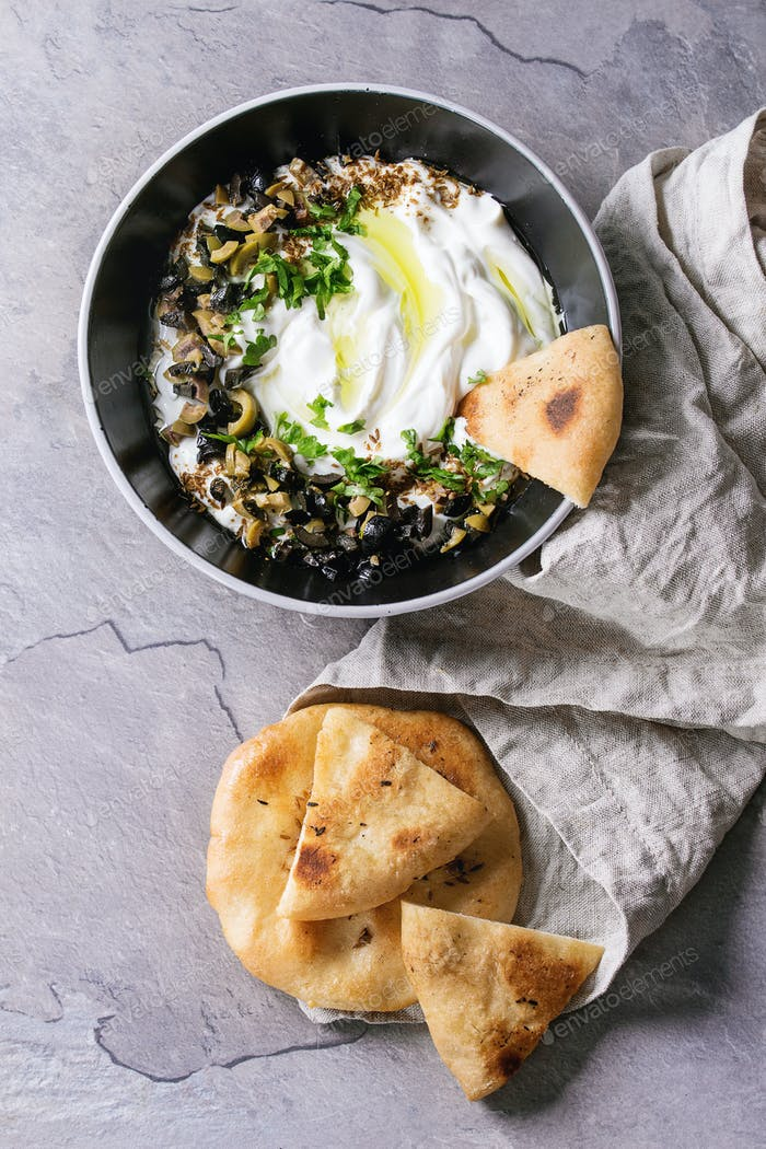 labneh fresh lebanese cream cheese dip