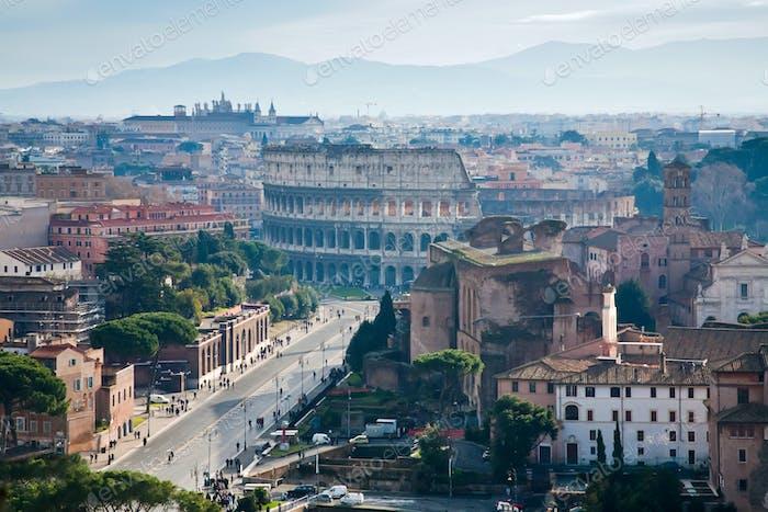 Via dei Fori Imperiali to Coliseum, Rome