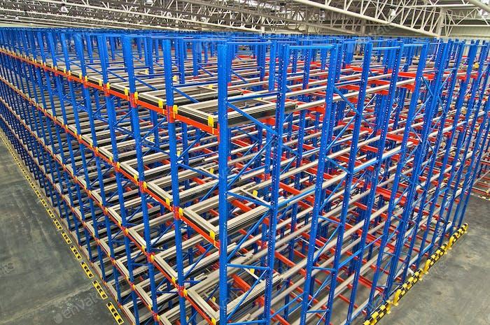 Warehouse  shelving  storage, metal, pallet racking system