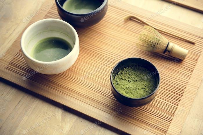 Japanischer orientalischer Matcha