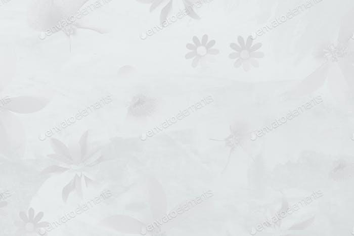 Gray floral background design resource