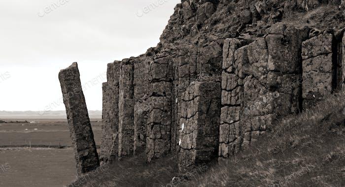 Basalt Columns In Dverghamrar, Iceland