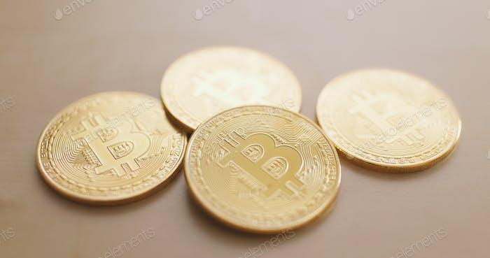Bitcoin on table