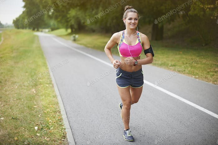 Jogging is my morning routine
