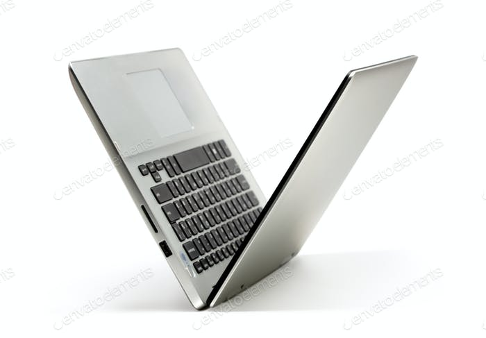 Ordenador portátil abierto