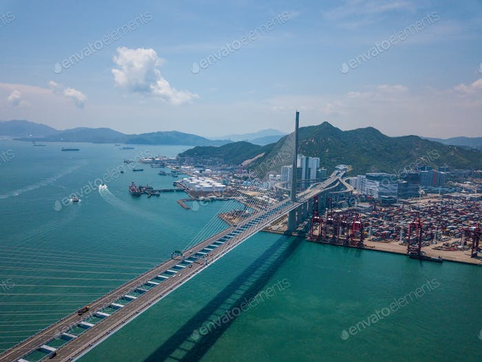 Top view of Kwai Tsing Container Terminals