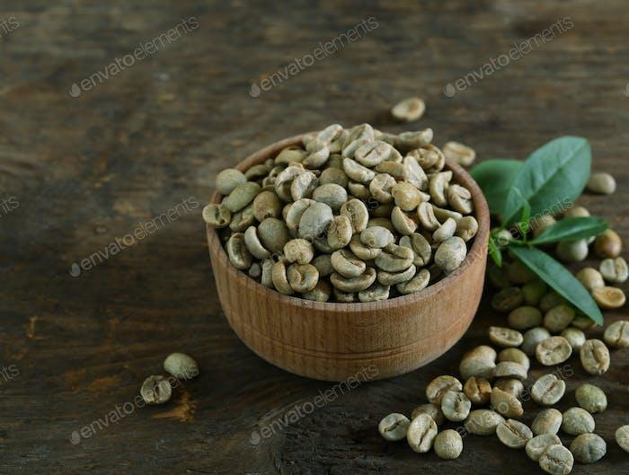 Grüne Kaffeekörner