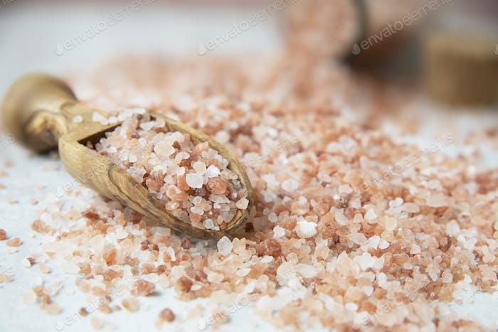 Pink Salt in Scoop